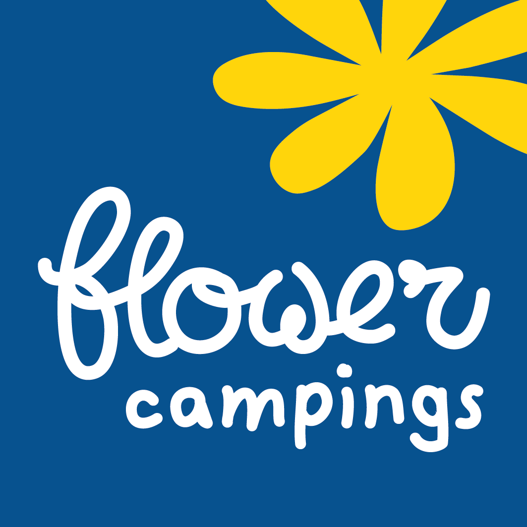 Logo Flowercampings, réseau de campings partout en France